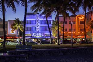 Art Deco District, Ocean Drive, South Beach, Miami Beach, Miami, Florida, United States of America by Gavin Hellier