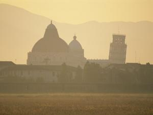 Baptistery, Duomo and the Leaning Tower in the Campo Dei Miracoli, Pisa, Tuscany, Italy by Gavin Hellier