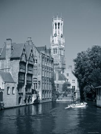Belfry and Canal, Bruges, Belgium by Gavin Hellier