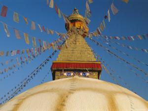 Bodhnath Stupa (Bodnath, Boudhanath) the Largest Buddhist Stupa in Nepal, Kathmandu, Nepal by Gavin Hellier