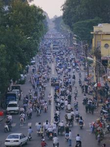 Busy Downtown Street, Ho Chi Minh City (Saigon), Vietnam, Indochina, Asia by Gavin Hellier
