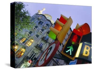 Casa Balli, Gaudi Architecture, and Street Signs, Barcelona, Spain