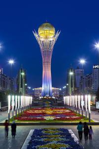 Central Asia, Kazakhstan, Astana, Nurzhol Bulvar - Bayterek Tower by Gavin Hellier