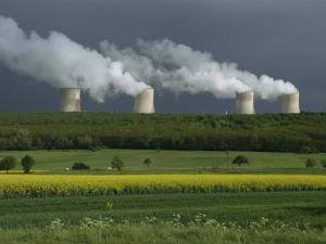 Central Nuclear Power Plant, Champagne Region, France, Europe by Gavin Hellier