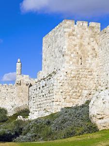 Citadel (Tower of David), Old City Walls, UNESCO World Heritage Site, Jerusalem, Israel by Gavin Hellier