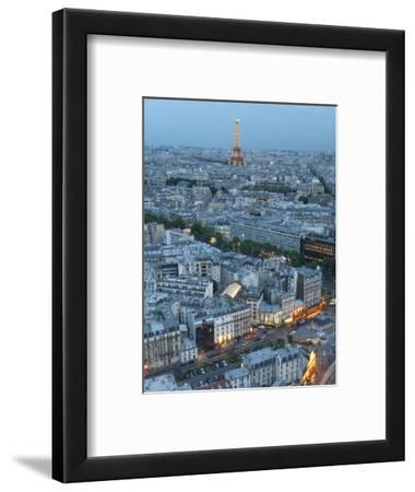 City and Eiffel Tower, Viewed over Rooftops, Paris, France, Europe