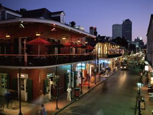 City Skyline and Bourbon Street, New Orleans, Louisiana, United States of America, North America by Gavin Hellier