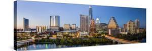 City Skyline Viewed across the Colorado River, Austin, Texas, Usa by Gavin Hellier
