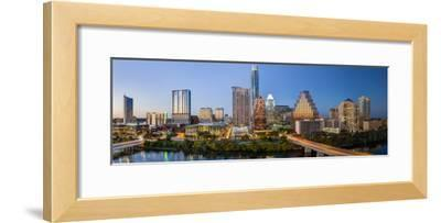 City Skyline Viewed across the Colorado River, Austin, Texas, Usa