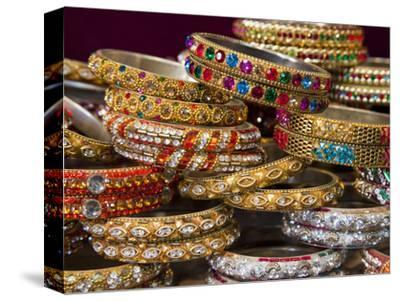 Colourful Braclets for Sale in a Shop in Jaipur, Rajasthan, India, Asia