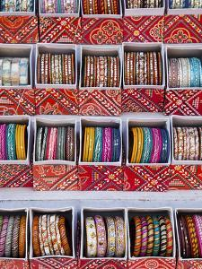 Colourful Braclets for Sale in a Shop in Jaipur, Rajasthan, India by Gavin Hellier