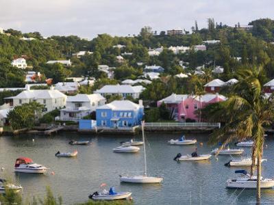 Colourful Houses and Boats, Hamilton Harbour, Hamilton, Bermuda by Gavin Hellier