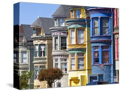 Colourfully Painted Victorian Houses in the Haight-Ashbury District of San Francisco, California, U