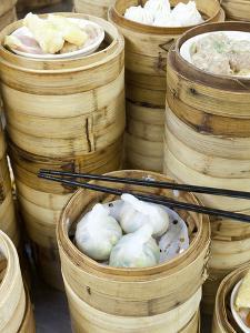 Dim Sum Preparation in a Restaurant Kitchen in Hong Kong, China (Pr) by Gavin Hellier
