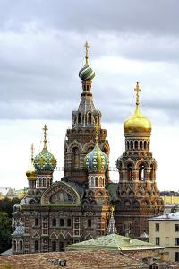 Domes of Church of the Saviour on Spilled Blood, St. Petersburg, Russia by Gavin Hellier