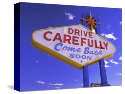 Drive Carefully Sign, Las Vegas, Nevada, USA