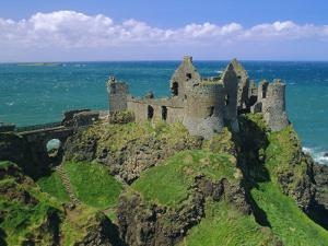 Dunluce Castle on Rocky Coastline, County Antrim, Ulster, Northern Ireland, UK, Europe by Gavin Hellier