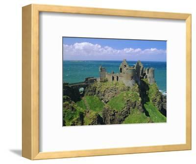 Dunluce Castle on Rocky Coastline, County Antrim, Ulster, Northern Ireland, UK, Europe