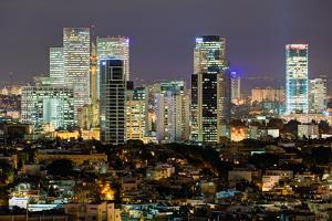 Elevated City View Towards the Commercial and Business Centre, Tel Aviv, Israel, Middle East by Gavin Hellier