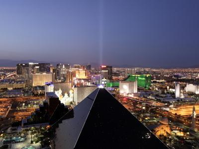 Elevated View of Casinos on the Strip, Las Vegas, Nevada, United States of America, North America