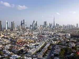 Elevated View of New Dubai Skyline of Modern Architecture, Dubai, United Arab Emirates by Gavin Hellier