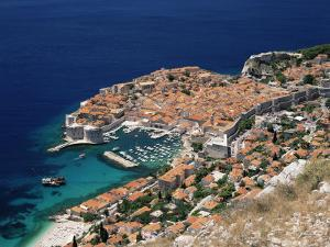 Elevated View of the Old Town, Unesco World Heritage Site, Dubrovnik, Dalmatian Coast, Croatia by Gavin Hellier