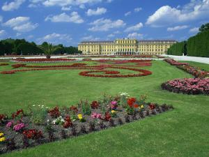 Formal Gardens with Flower Beds in Front of the Schonbrunn Palace, Vienna, Austria by Gavin Hellier