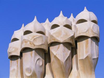 Gaudi Architecture, Casa Mila, La Pedrera House, Catalunya (Catalonia) (Cataluna), Spain by Gavin Hellier