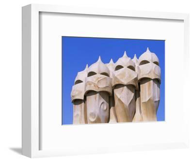Gaudi Architecture, Casa Mila, La Pedrera House, Catalunya (Catalonia) (Cataluna), Spain