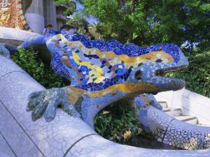 Gaudi Architecture, Parc Guell, Unesco World Heritage Site, Catalunya (Catalonia) (Cataluna), Spain by Gavin Hellier