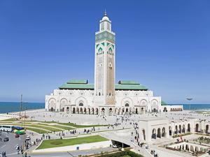 Hassan II Mosque, the Third Largest Mosque in the World, Casablanca, Morocco, North Africa, Africa by Gavin Hellier