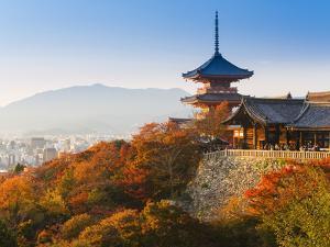 Japan, Honshu, Kansai Region, Kiyomizu-Dera by Gavin Hellier