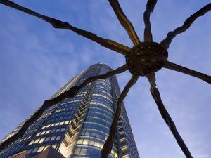 Japan, Honshu, Tokyo, Roppongi Hills, Mori Tower and Maman Spider Sculpture by Gavin Hellier