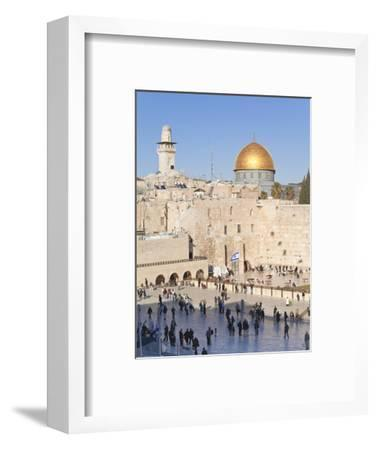 Jewish Quarter of Western Wall Plaza and Dome of Rock, UNESCO World Heritage Site, Jerusalem Israel