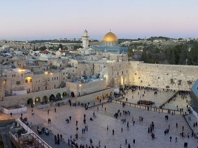 Jewish Prayers in Sacred Western Wailing Wall Postcard Kotel Jerusalem Judaica