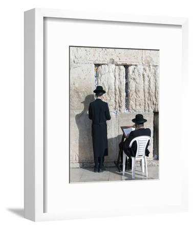 Jewish Quarter of Western Wall Plaza, People Praying at Wailing Wall, Old City, Jerusalem, Israel