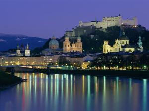 Kollegienkirche, Cathedral and Hohensalzburg Fortress, Salzburg, Austria, Europe by Gavin Hellier