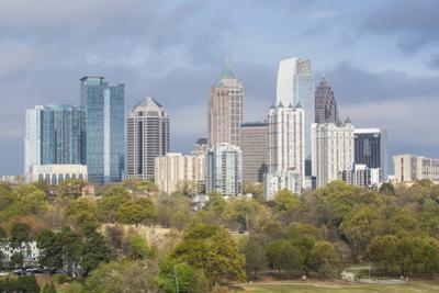Midtown Skyline from Piedmont Park, Atlanta, Georgia, United States of America, North America