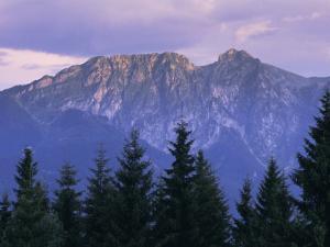 Mount Giewont and Zakopane, Tatra Mountains, Poland, Europe by Gavin Hellier