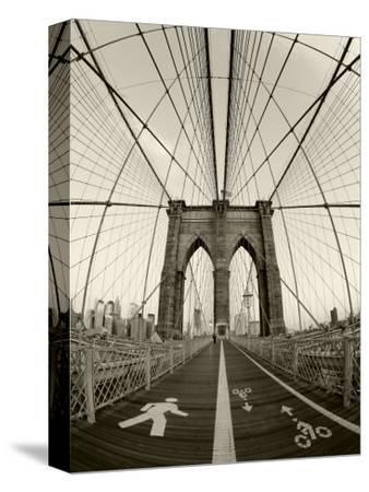 New York City, Manhattan, Brooklyn Bridge at Dawn, USA