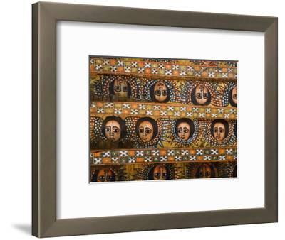 Painting of the Winged Heads of 80 Ethiopian Cherubs, Debre Berhan Selassie Church, Ethiopia