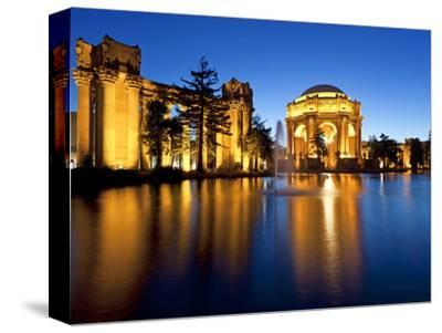 Palace of Fine Arts Illuminated at Night, San Francisco, California, United States of America, Nort