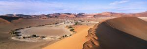 Parabolic Sand Dune Formations, Sossusvlei, Namib-Naukluft Park, Namibia, Africa by Gavin Hellier