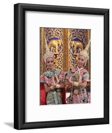 Portrait of Two Dancers in Traditional Thai Classical Dance Costume, Thailand