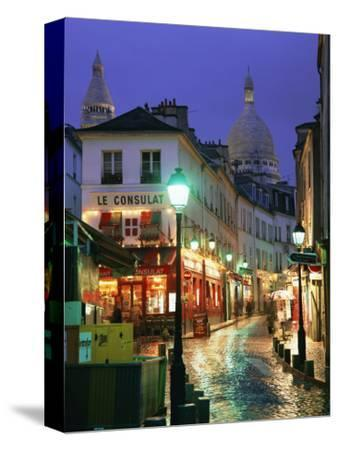 Rainy Street and Dome of the Sacre Coeur, Montmartre, Paris, France, Europe