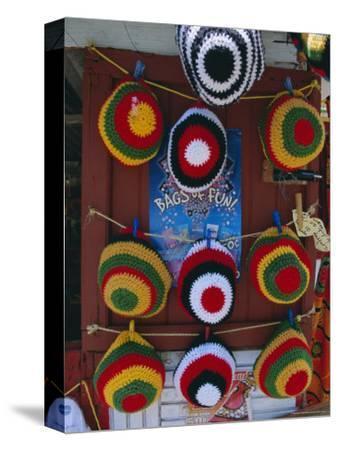 Rasta (Rastafarian) Hats on Display, Tobago, Trinidad and Tobago, West Indies, Caribbean