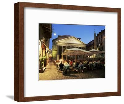 Restaurants Near the Ancient Pantheon in the Evening, Rome, Lazio, Italy