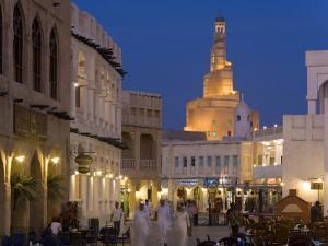 Restored Souq Waqif, Doha, Qatar, Middle East by Gavin Hellier