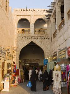 Restored Souq Waqif with Mud Rendered Shops and Exposed Timber Beams, Doha, Qatar, Middle East by Gavin Hellier