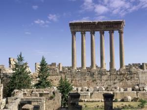Roman Temple of Jupiter, Lebanon, Middle East by Gavin Hellier